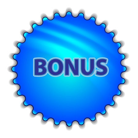 labeled: Big blue button labeled Bonus Illustration