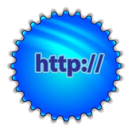 """http: Gro�e blaue Schaltfl�che """"http"""""""