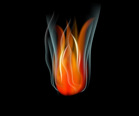 Burn flame fire abstract background. Vector.  Vector