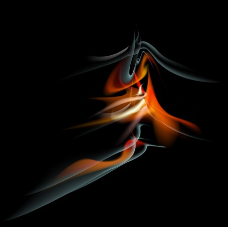 saturated color: Burn flame fire abstract background. Vector.    Illustration