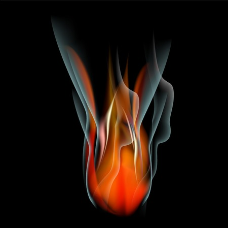 Burn flame fire abstract background. Vector.