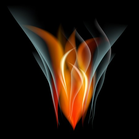 saturated: Burn flame fire abstract background. Vector.   Illustration