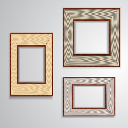 Vintage isolated blank frame Vector