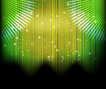Abstract blurred glowing background with sparks. Vector illustration.  Vector