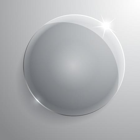 round glass frame. Vector illustration background Vector