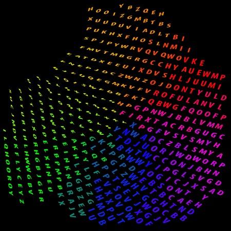 Abstract colorful vector of alphabet  Vector Vector