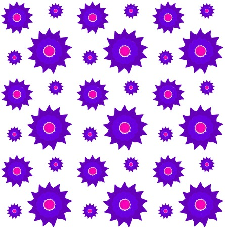 Set of Vector Flowers illustration.  Vector