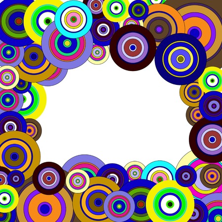 circles  colorful pattern vector Vector