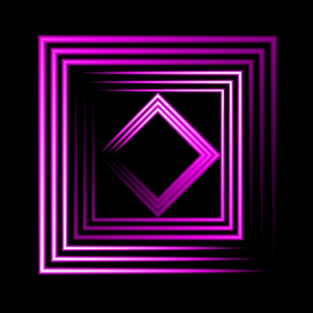 Purple neon square vector background. abstract. Vector.  Vector