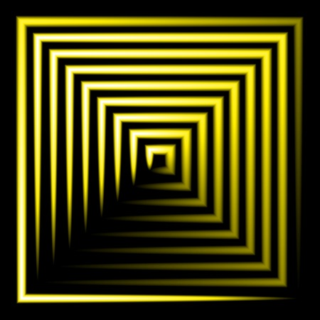 yellow neon square vector background. abstract. Vector.  Vector