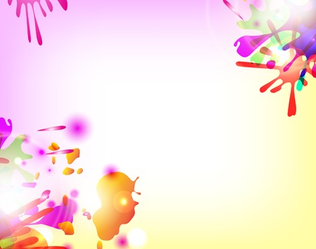 Abstract hand made watercolor splashes. Vector Vector