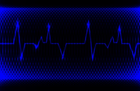 Colorful human heart normal sinus rhythm, electrocardiogram record. Bright and bold design. Vector
