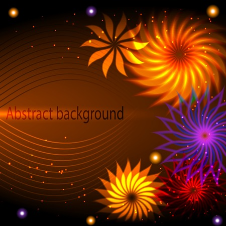 Abstract background with flower and design elements.  Vector