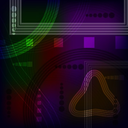 light streaks: Glowing neon line light effect background.