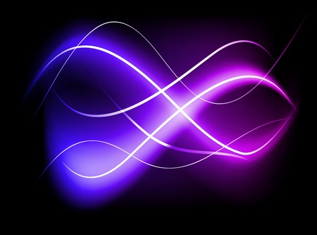 Blurry abstract purple light effect background. Vector