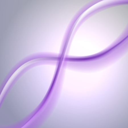 illustration of purple  abstract background with blurred magic neon light curved lines.  Vector