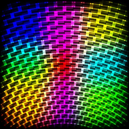 Abstract spectrum dark background with colored sparkles. Vector