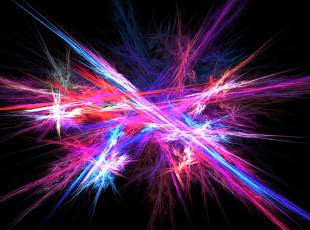 abstract background with blurred magic neon light rays photo
