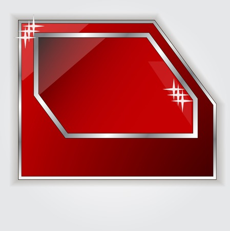 Isolated red frame for your text photo