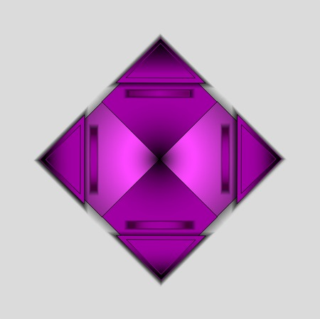 Modern  background with colored purple triangle photo