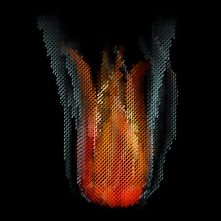 Burn flame fire abstract background. . photo