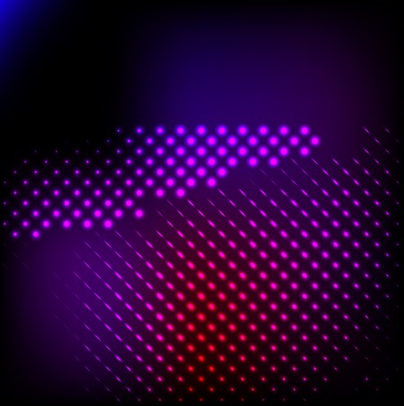 Abstract background colorful lights on black, . photo