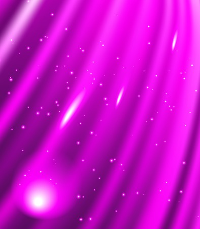 Snow and stars are falling on the background of purple  luminous rays. Banco de Imagens - 28168676