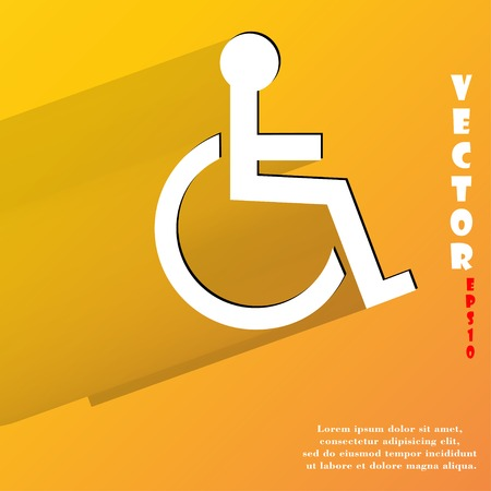 accessible: disabled. Flat modern web button with long shadow and space for your text.  Illustration