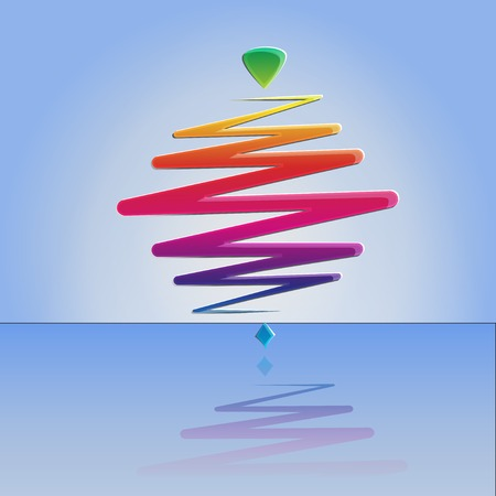 whirligig: modern color whirligig, on an abstract background. Fast whirlabout. Luminous peg-top.  Illustration