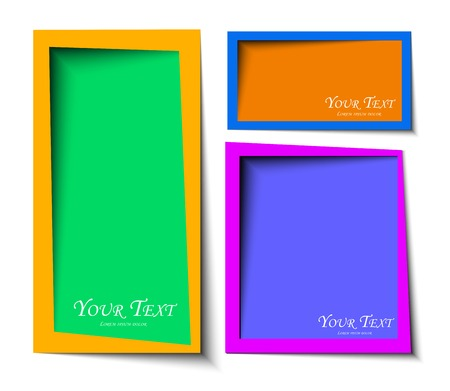 abstract Rounded rectangel text boxes with colorful background design  Vector