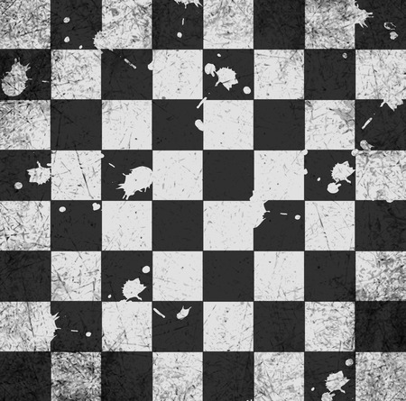 vintage crack old scratched empty chess board. abstract grunge background.  Vector