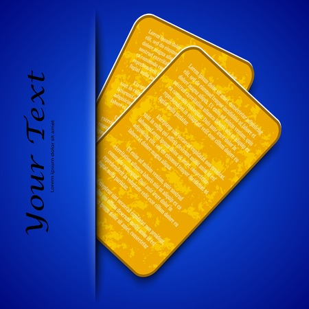 Orange card  texture on a metal background with place for your text.  Vector