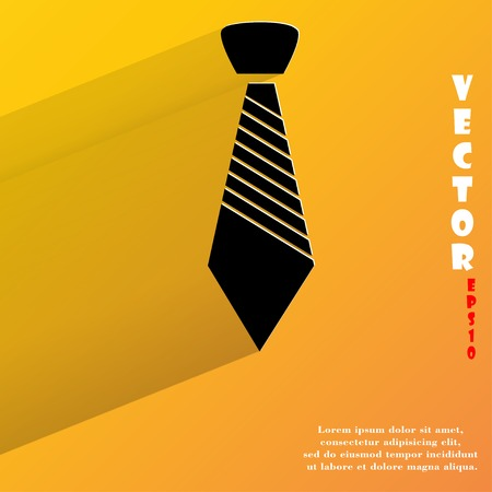 dresscode: Hipster tie. Flat modern web button with long shadow and space for your text.