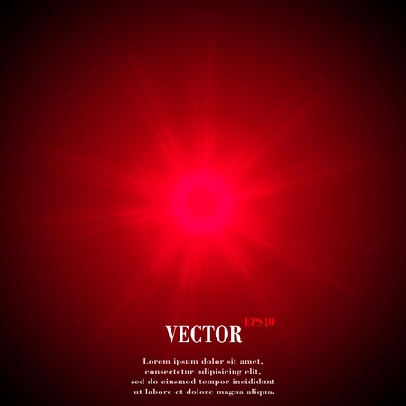 overlying: Abstract blurry background with overlying semi transparent circles, light effects and sun burst.  Illustration