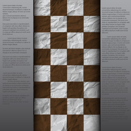 vintage crack paper scratched empty chess board. abstract grunge background.  Vector