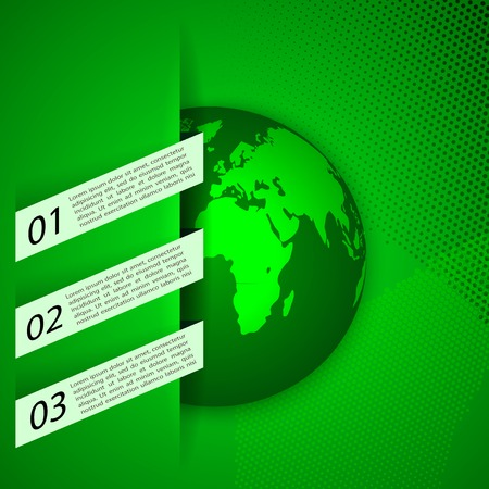 Global warming abstract background. Eco signs  illustration. Vector
