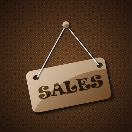 Sales hanging sign or for your text on an abstract background. Vector
