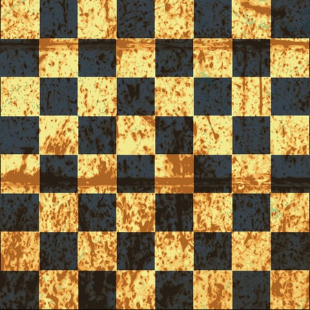 chequer: vintage crack old scratched empty chess board. abstract grunge background.