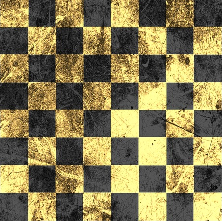 cleft: vintage crack old scratched empty chess board. abstract grunge background.