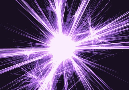 abstract background with blurred magic neon light rays. Vector