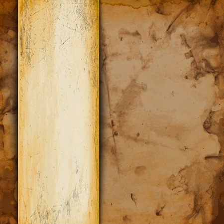 Abstract Old grungy paper background with texture and space for your text.  Vector