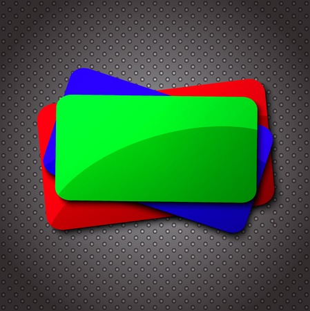 Blank hanging sign for your text on an abstract background. Vector