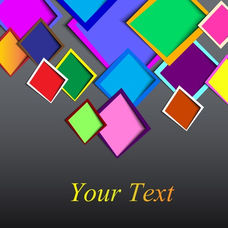 abstract Rounded rectange text boxes with colorful background design vector Vector