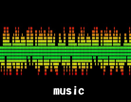 equaliser: illustration  of music colorful equaliser bar in black background.
