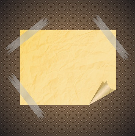 Collection of various white note papers, ready for your message.  Vector