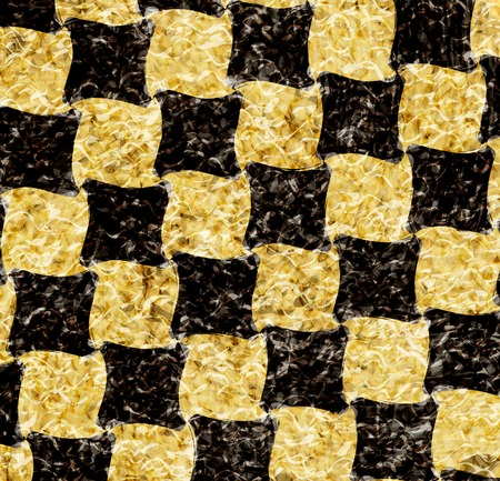 chequer: vintage crack old scratched empty chess board. abstract grunge background. . Stock Photo