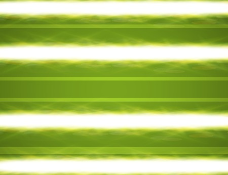 Abstract green blurry background with overlying semi transparent circles, light effects and sun burst. . photo