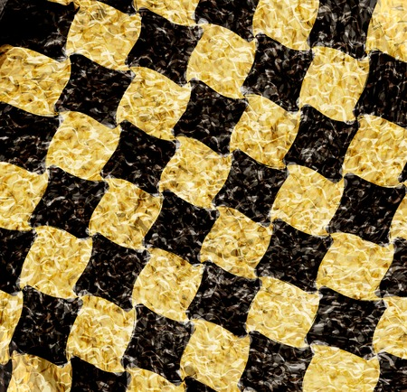vintage crack old scratched empty chess board. abstract grunge background. . photo
