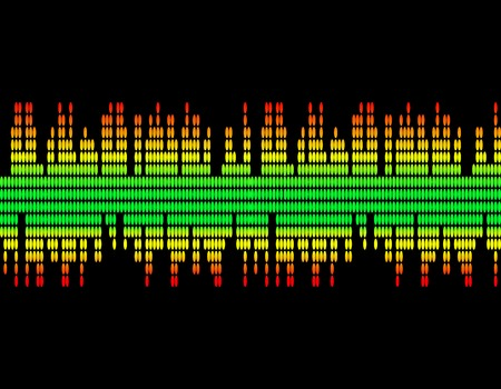 illustration  of music colorful equaliser bar in black background. .