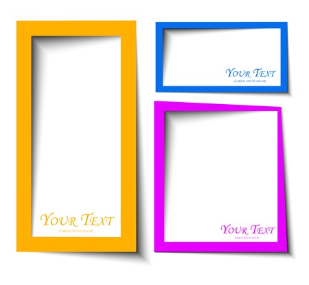abstract Rounded rectange text boxes with colorful background design photo